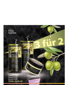 Mea Natura 3 für 2/  SHAMPOO 300ml, CONDITIONER 300ml, HAAR MASKE 250ml
