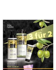 Mea Natura 3 für 2 BODY MILK 250ml, SHOWER GEL 300ml, BODY SCRUB 250ml